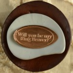 Specialty Pressed Penny wedding party will you be my Ring bearer