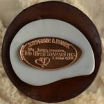 Pressed Penny Copper Penny Wedding Favor Save-The-Date Stephanie and Daniel 1 john 4 19