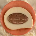 Pressed Penny Copper Penny Wedding Favor Save-The-Date dolphins meghan and doug